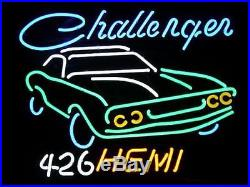 Rare Vintage DODGE CHALLENGER 426 HEMI Car Auto Real Glass Pub Bar Neon Sign