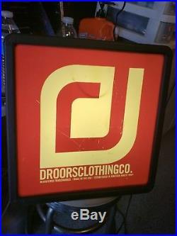 Rare Vintage Droors neon skate shop sign Dc Shoes Clothing 1992 skateboard