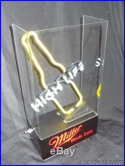 Rare Vintage Mini Miller High Life Neon Beer Sign 1980's Small Bar Back Style