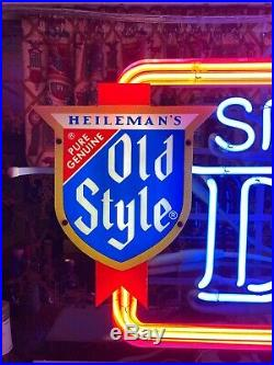 Rare and Large (31.5W) Vintage Old Style Special Dry Beer Neon Bar Light Sign