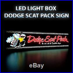 Scat Pack Light Box Vintage Neon Style Sign Super Bee Dodge Classic Muscle