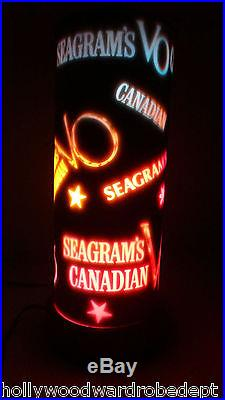 Seagrams VO Canadian Whiskey bar ad vtg 7 sign neon mid century light lamp