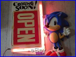 Sega Sonic 90's Neon signs Coming soon Open US Vintage Collector ItemRare game