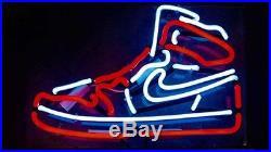 Sneakers Neon Sign Light Sport Store Pub Club Vintage Man Cave Bar Beer