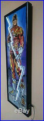 Super Hero Figure Insegna Luminosa al Neon DC Comics Marvel Vintage Lighted Sign