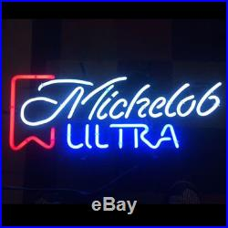 Sweet Vintage Michelob Ultra Real Glass Beer Bar Pub Decor Neon Light Signs19x15