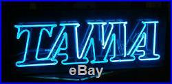 TAMA DRUMS Vintage 80's Original Music Store Promotional Neon Sign RARE