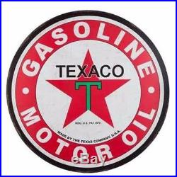 TEXACO GAS Large 30'' Metal Petroleum Signs Vintage Style Fire Chief MAN CAVE