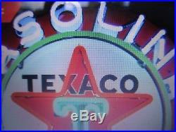 Texaco Motor Oil Neon 24x24 Gasoline Vintage Gas Sign Garage Man Cave sale today