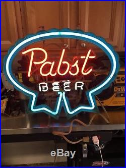 VINTAGE PABST BREWING CO. NEON BEER SIGN, Circa 1983/1983, works 100%