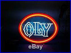 (VTG) 1970s olympia beer oly neon light up sign bar game room Washington rare