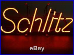 (VTG) 1977 Schlitz beer back bar neon light up sign milwaukee game room rare