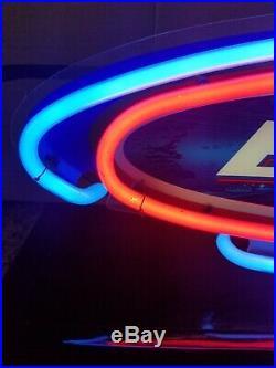 (VTG) 2002 bud light beer small neon light up sign bar man cave game room rare