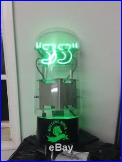 (VTG) 2006 Rolling Rock 33 Amplifier Tube Beer Neon light up Sign bar Brewery