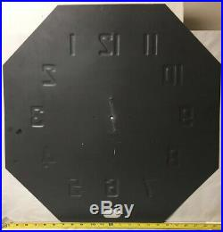VTG 24 SAY-IT-IN NEON CLOCK FACE OCTAGON BLACK DIAL(only) SIGN BUFFALO NEW YORK