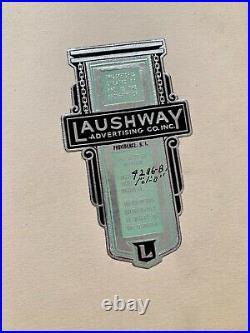 VTG Antique Original 1940s Neon Sign Concept Drawing King's Cut-Rate Drugs OOAK