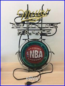 VTG Miller MGD Basketball Official NBA Sponsor Light Up Sign WORKS NICE (214)