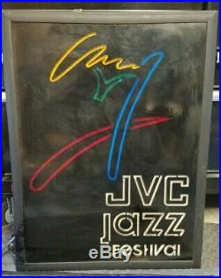 Very Rare Lighted Vintage JVC Jazz Festival Concert Neon Display Sign