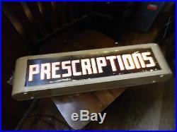 Vintage 1930's Pharmacy Prescriptions Advertising Sign Light Up Neon! @@