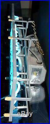 Vintage 1950s Hamm's Beer Advertising Blue Neon Light Bar Back Pub Sign 8 x 24
