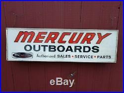Vintage 1960's Kiekhaefer Mercury Lighted Neon Outboard Boat Motor Sign