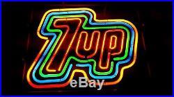 Vintage 1975 7-up Neon Sign Soda light Classic Seven 7 RARE