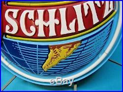Vintage 1977 Schlitz Globe World Neon Sign Excellent RARE