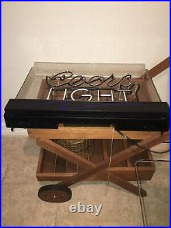 Vintage 1992 Rare Coors Light Beer Electric Neon Sign. USA 26x17x5