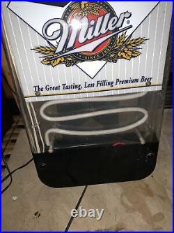 Vintage 1995 Miller Lite Beer Bottle Shape Neon Sign