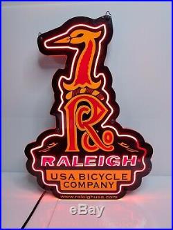 Vintage 1999 Raleigh USA Bicycle Company Neon Sign BMX MTB HTF