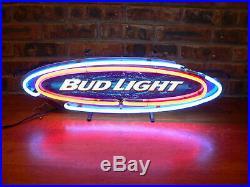 Vintage 2001 Bud Light Beer Advertising Explosion 26 Neon SignItem #1018092