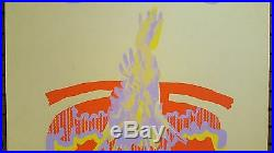 Vintage'77 Neon Screen Print Poster Signed In Pencil By Doug Hark
