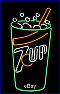 Vintage (7 UP) Seven Up Neon advertising Sign 1970's Underwriters Lab 27