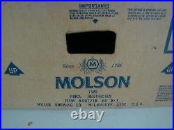 Vintage 90's MOLSON NEON Sign 27 x 6 x 6 (20 yrs old STILL IN BOX)