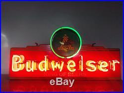 Vintage ANHEUSER BUSCH BUDWEISER KING OF BEERS NEON LIGHT EAGLE BEER BAR SIGN