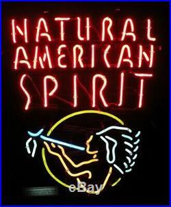 Vintage American Spirit Cigarettes / Tobacco Neon Sign - 19 x 25 x 5 1/2