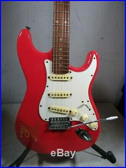 Vintage Aria Budweiser Red Neon Light Sign Electric Guitar