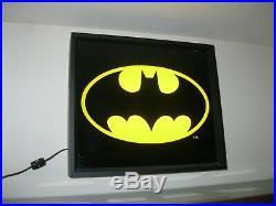 Vintage Batman Symbol Light Up Store Display Sign