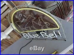 Vintage Blue Bell Ice Cream Neon Sign