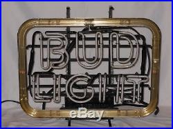 Vintage Bud Light Neon Sign Working Man Cave Store Front
