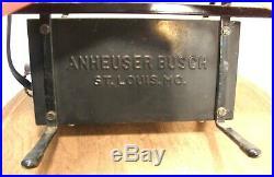 Vintage Budweiser Beer Bow Tie Neon Advertising Bar Sign Everbrite 051-265 Works