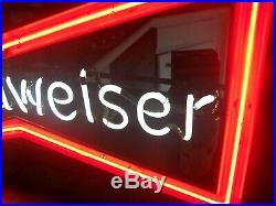 Vintage Budweiser Bowtie Beer Neon Sign