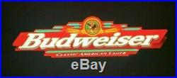 Vintage Budweiser Faux Neon Sign 45 x 11 LIght Bar Pub Cave Decor Pool