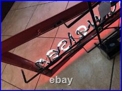 Vintage Budweiser Neon Electric Bowtie Beer Sign Man Cave Game Room Garage Bar