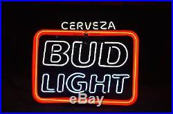 Vintage Budweiser Neon Sign dated 1992 from a NYC Spanish neighborhood