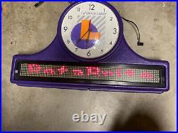 Vintage California Lottery Beta Brite Programmable Clock Sign Lamp Man Cave