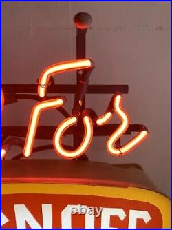 Vintage Call For Smirnoff neon sign Lighted Beer Sign Collectible Man Cave 1988