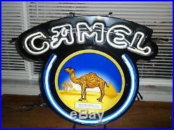 Vintage Camel Cigarette Neon Sign24-1/2 X 21tavern Barman Cavelighted Sign