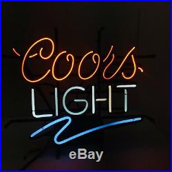 Vintage Coors Light Neon Beer Sign Man Cave Bar Pub Decor Window or Wall Sign