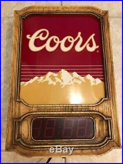Vintage Coors Light Neon Sign